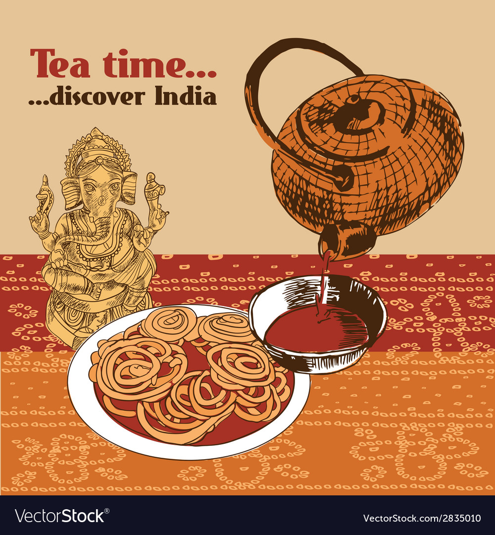 Indian teapot and cup vector | Price: 1 Credit (USD $1)