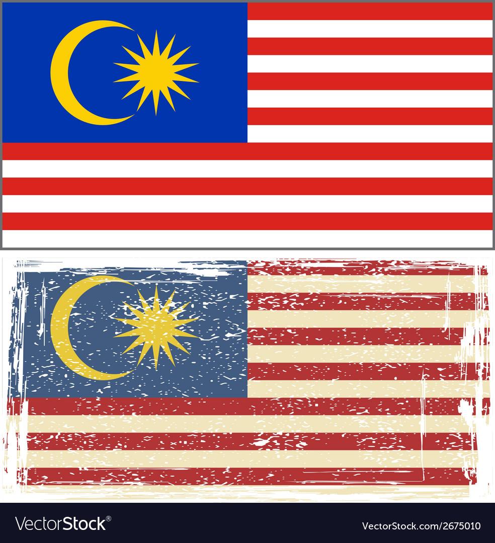 Malaysian grunge flag vector | Price: 1 Credit (USD $1)