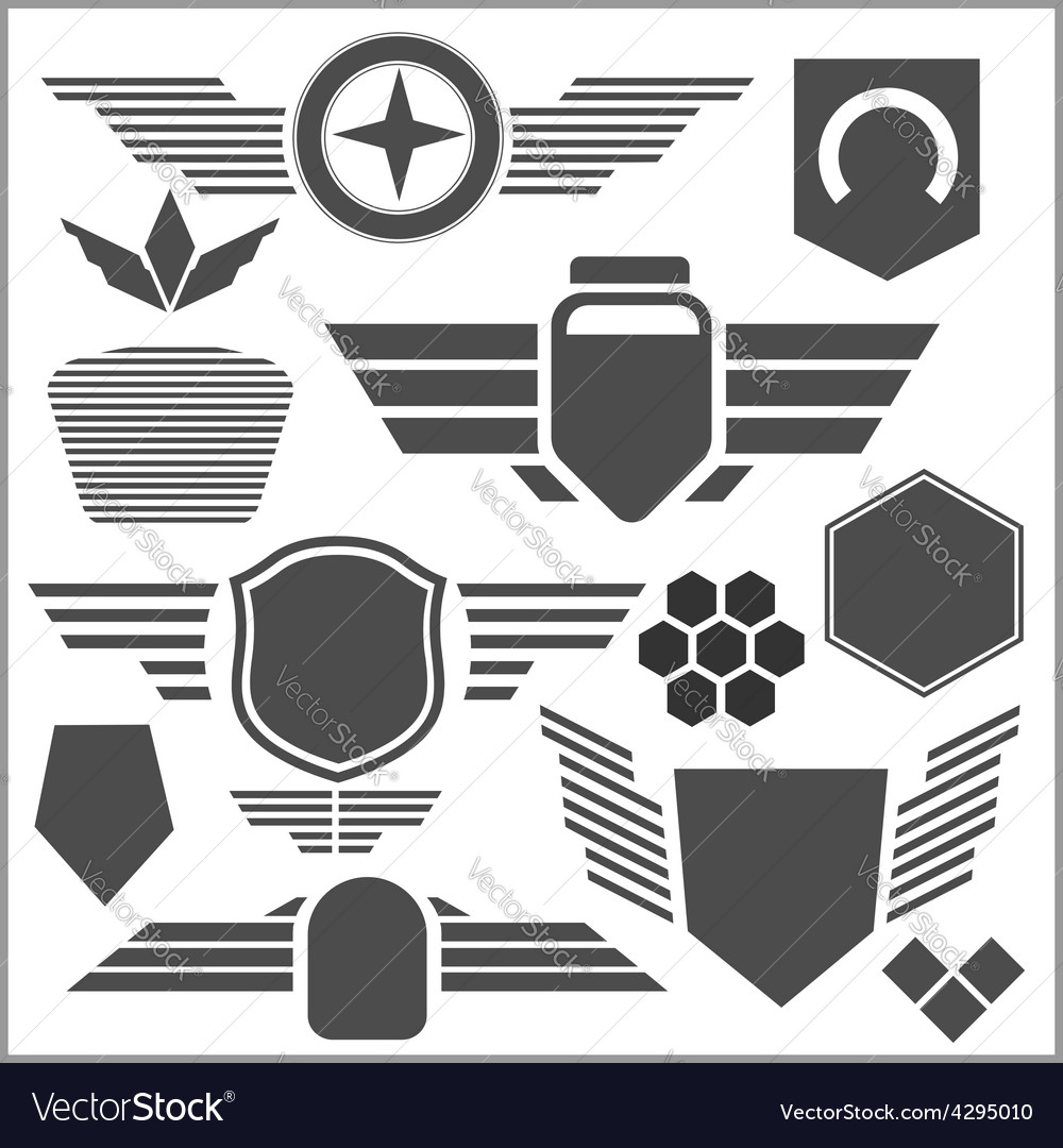 Military symbol icons - set vector | Price: 3 Credit (USD $3)