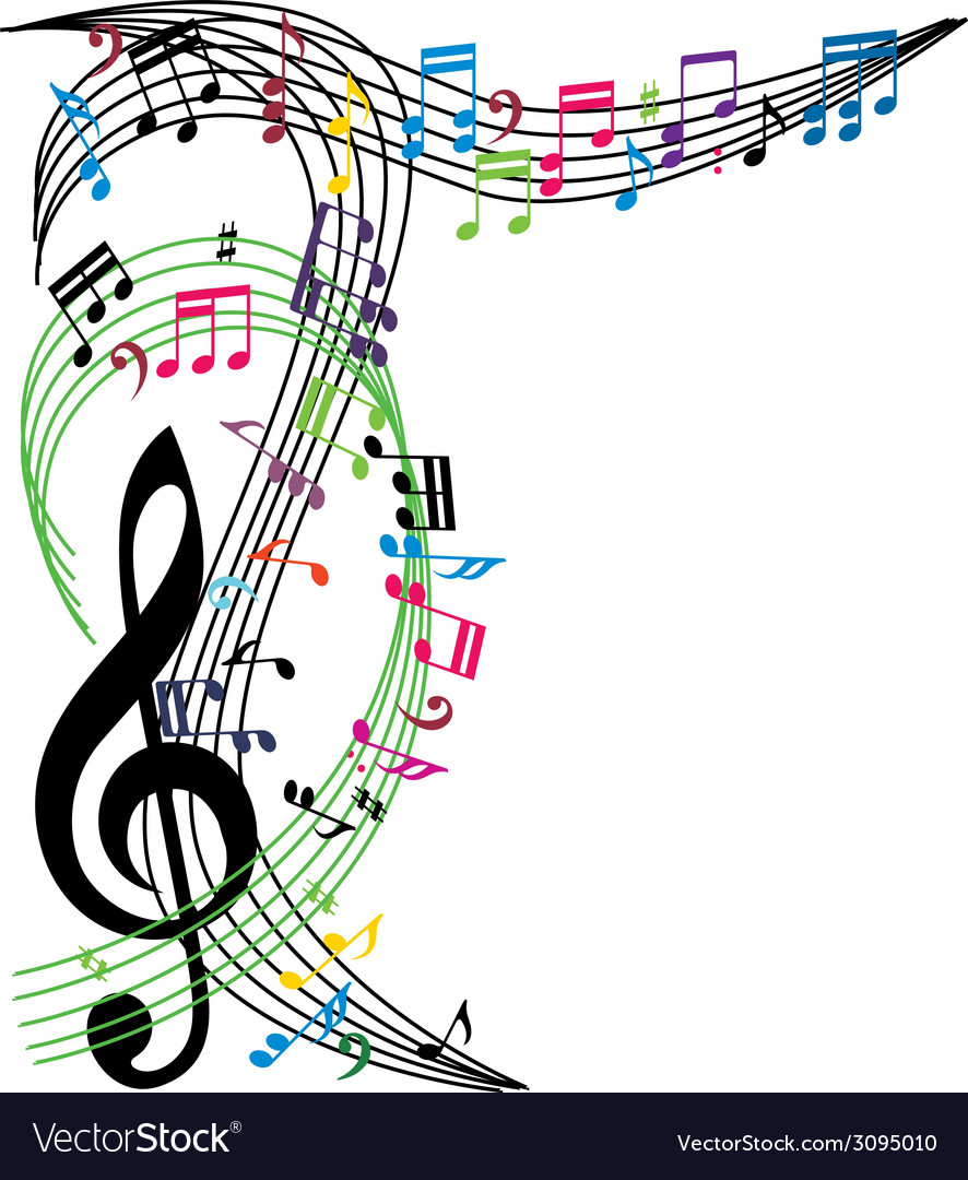 Music notes background stylish musical theme vector   Price: 1 Credit (USD $1)