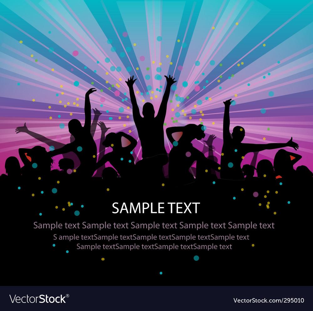 People dancing vector | Price: 1 Credit (USD $1)