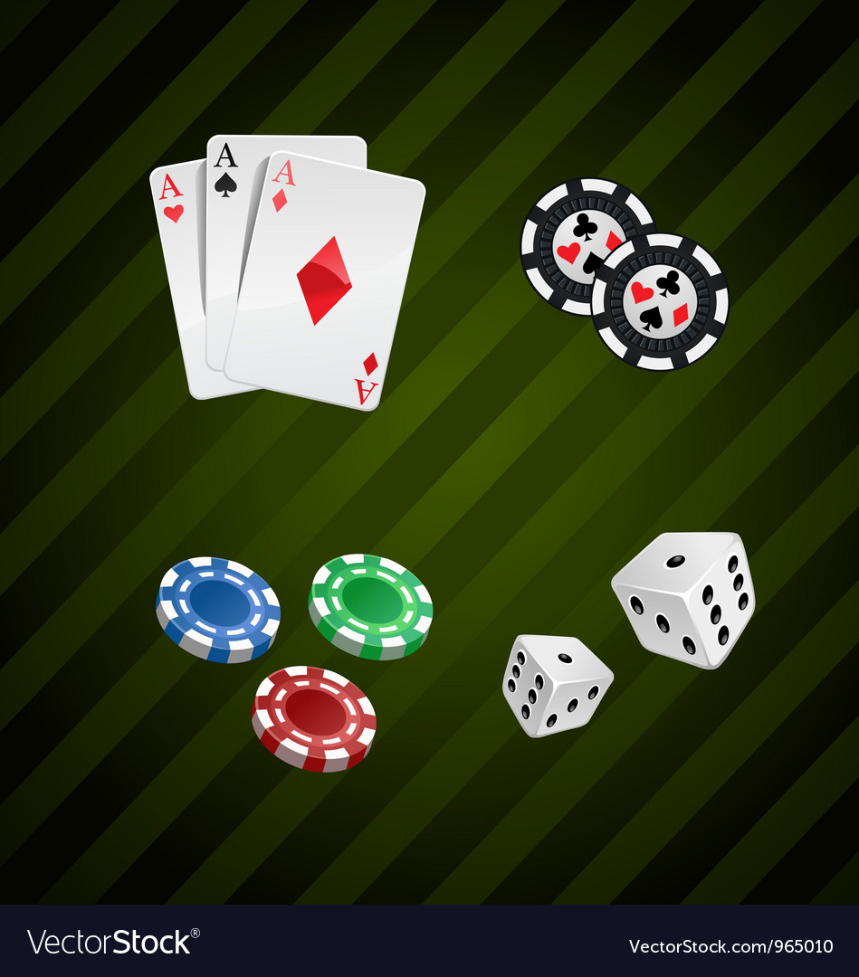 Set of casino elements poker collection vector | Price: 3 Credit (USD $3)