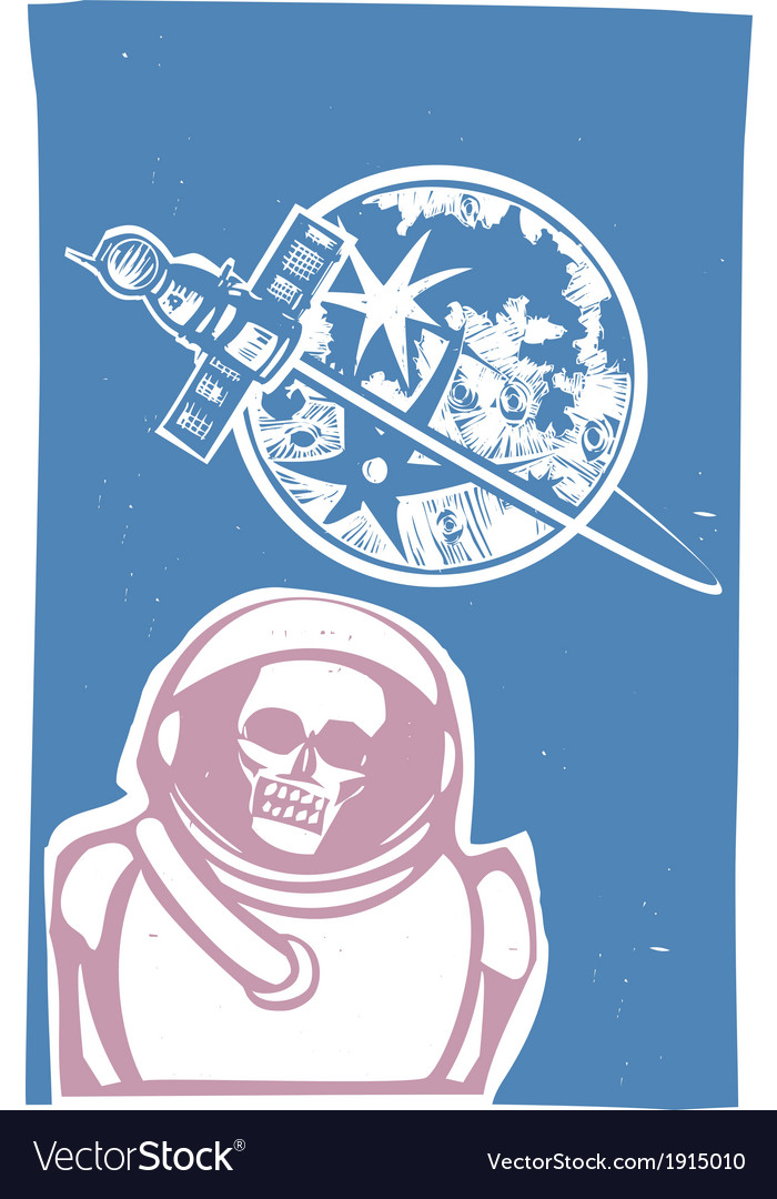 Zombie cosmonaut vector | Price: 1 Credit (USD $1)