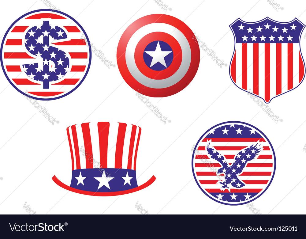 American patriotic symbols vector   Price: 1 Credit (USD $1)
