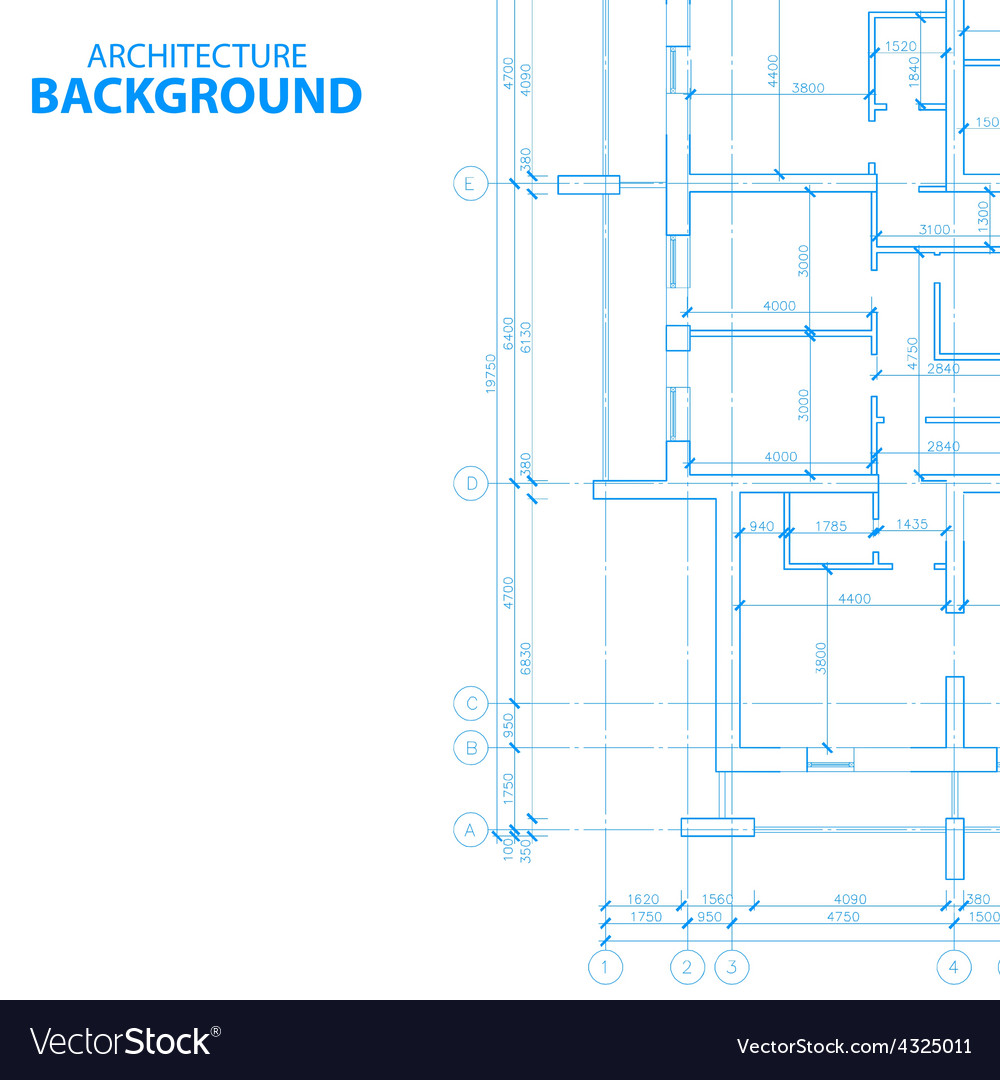 Architecture plan vector | Price: 1 Credit (USD $1)