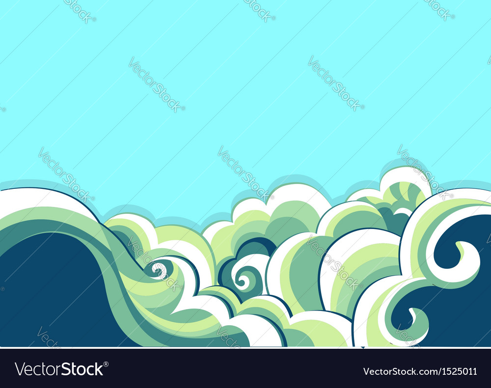 Blue sea and nature background vector | Price: 1 Credit (USD $1)