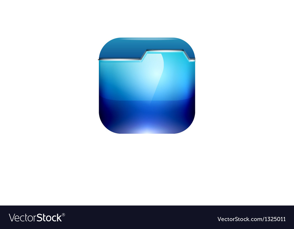 Glossy folder icon design vector | Price: 1 Credit (USD $1)