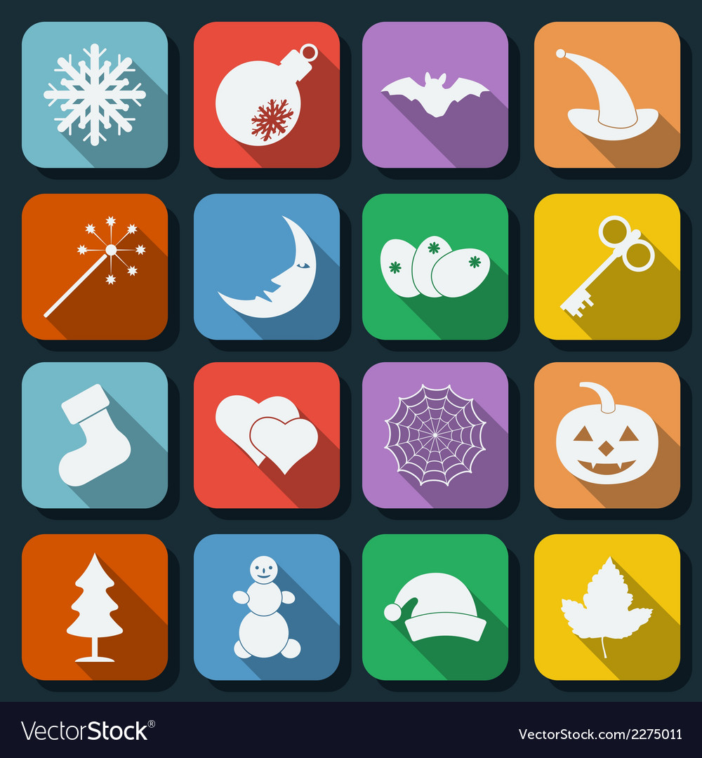 Holidays icons vector | Price: 1 Credit (USD $1)