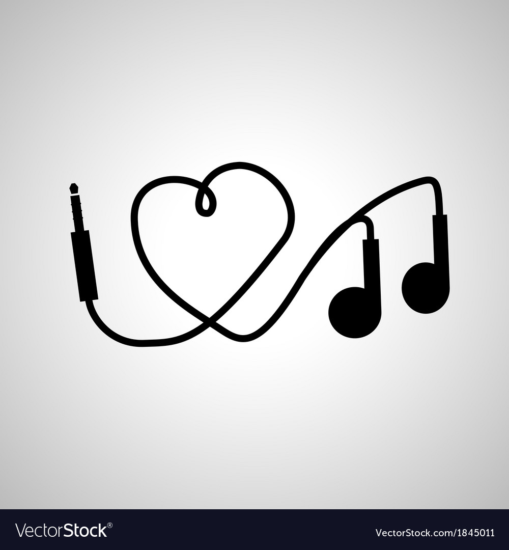 I love music headphones vector | Price: 1 Credit (USD $1)