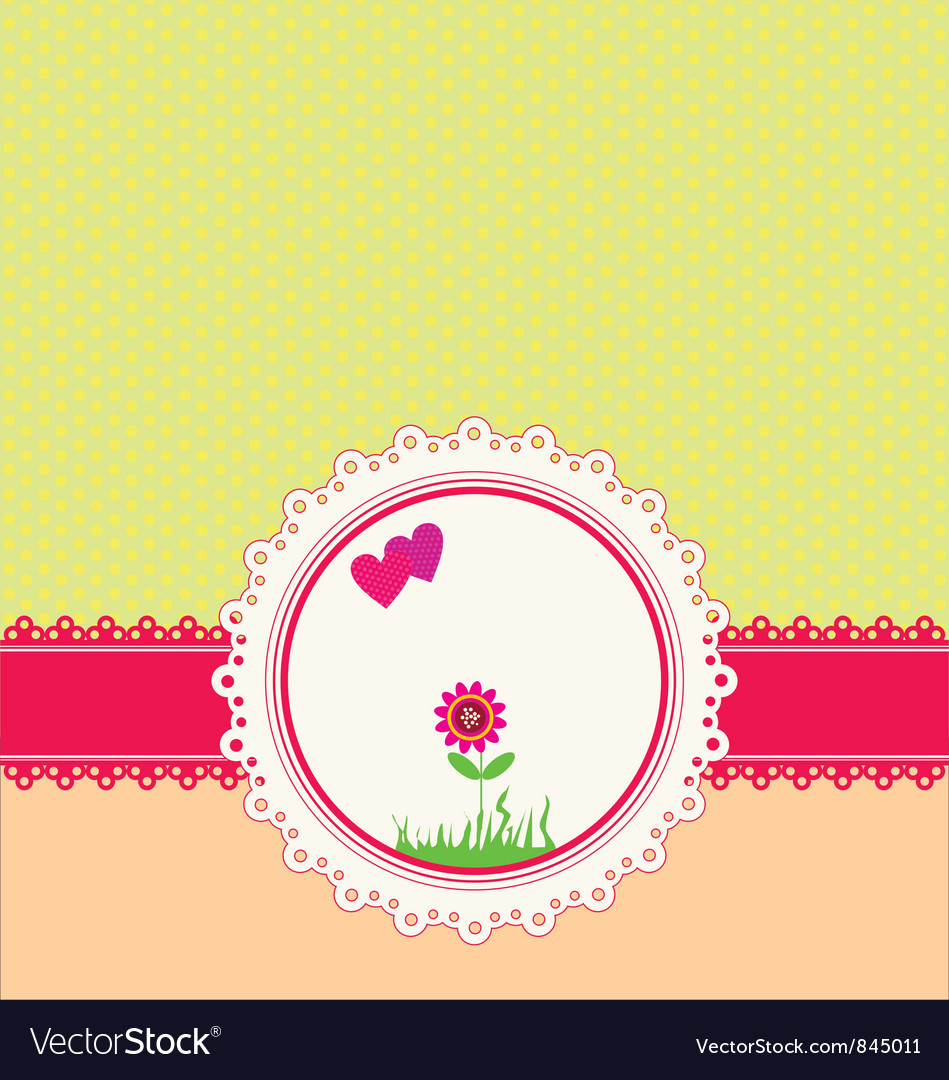 Pastel greeting card vector | Price: 1 Credit (USD $1)