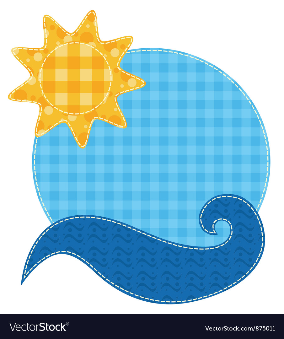 Patchwork sun and wave vector | Price: 1 Credit (USD $1)