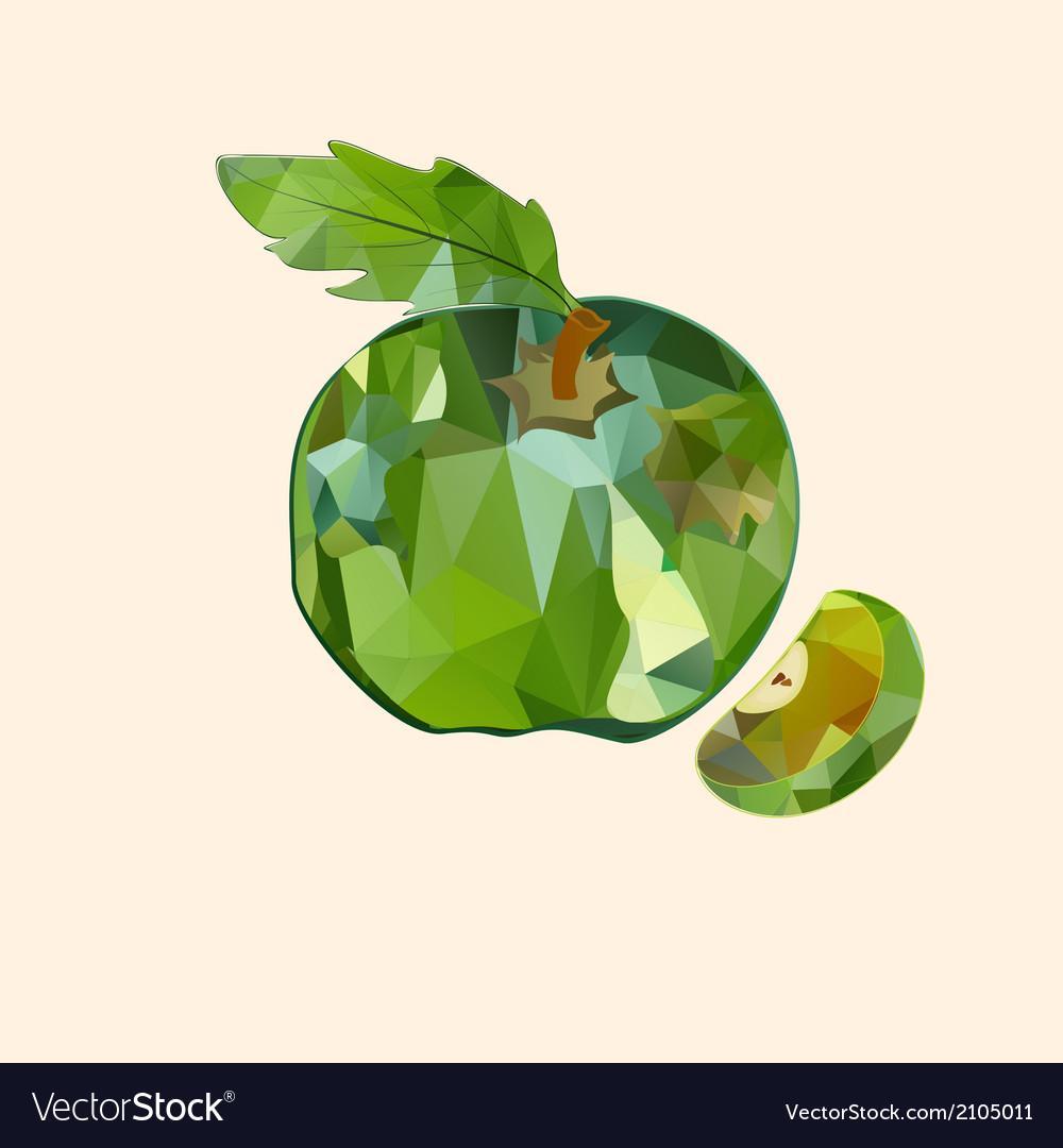 Polygonal apple vector | Price: 1 Credit (USD $1)