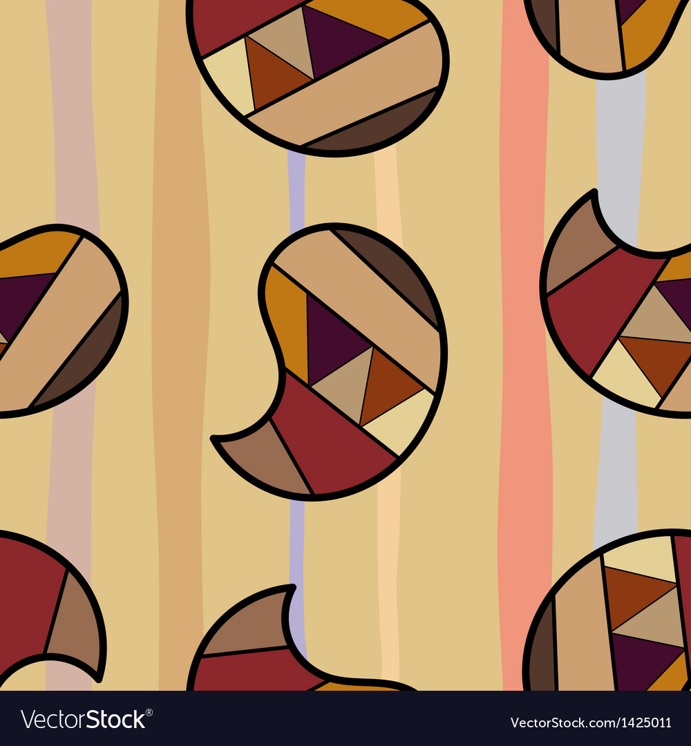 Seamless texture with colorful graphic elements vector | Price: 1 Credit (USD $1)