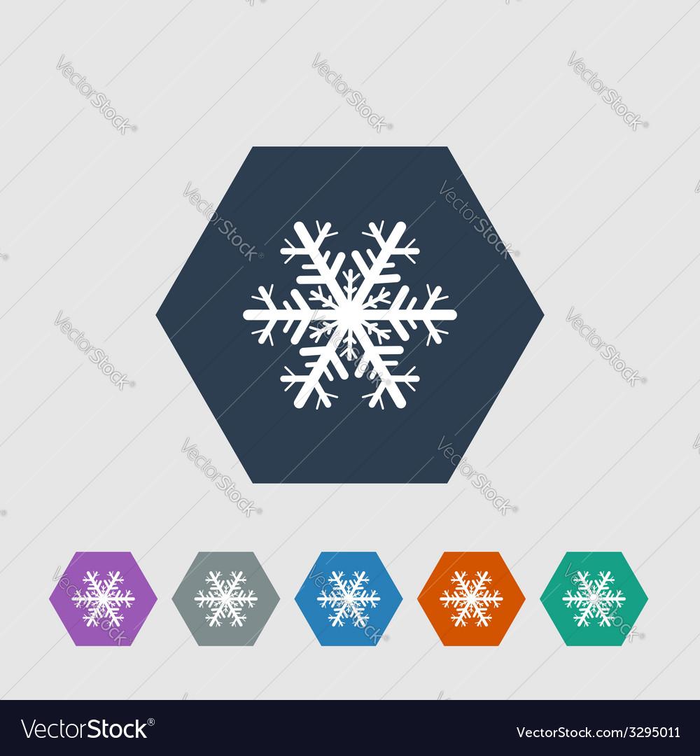 Snowflake icon vector | Price: 1 Credit (USD $1)
