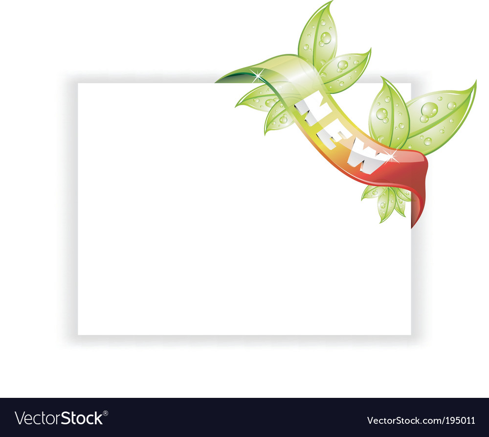 White page with nature tag vector | Price: 3 Credit (USD $3)
