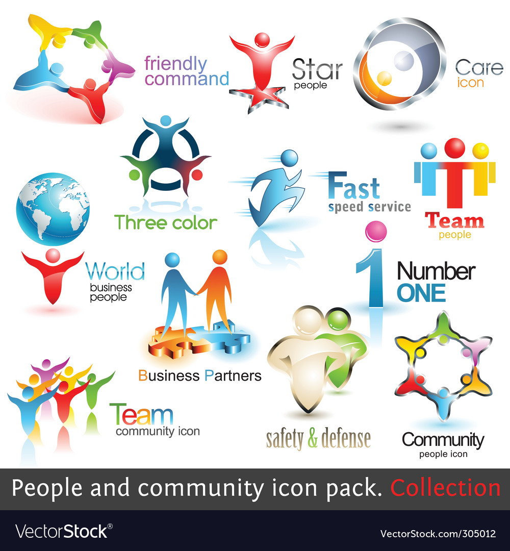 Business people community vector | Price: 3 Credit (USD $3)