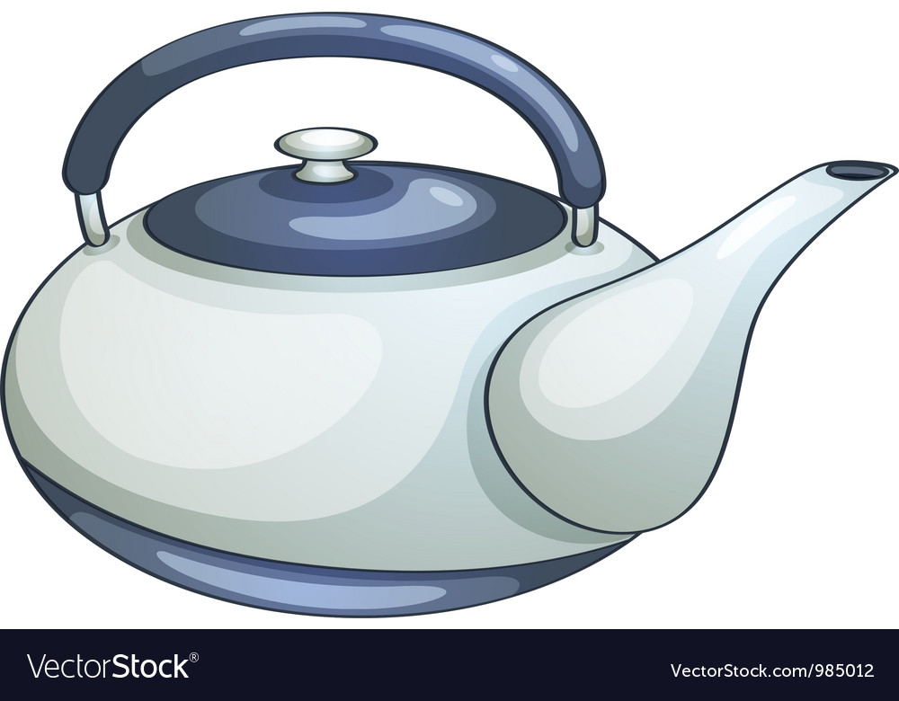Ceramic teapot vector | Price: 3 Credit (USD $3)