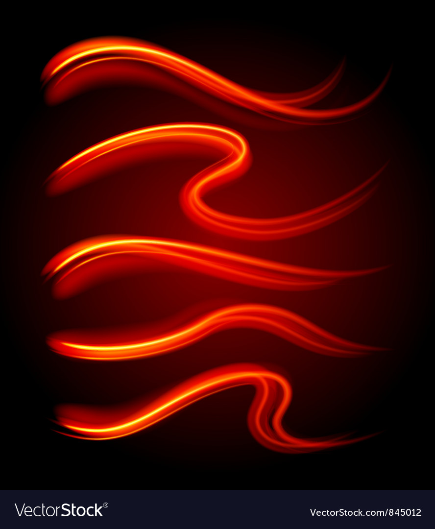 Curly light streaks vector | Price: 1 Credit (USD $1)