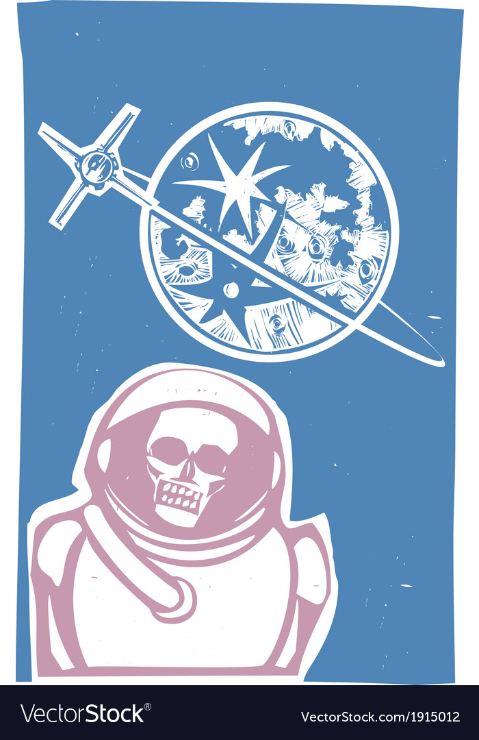 Dead cosmonaut vector | Price: 1 Credit (USD $1)