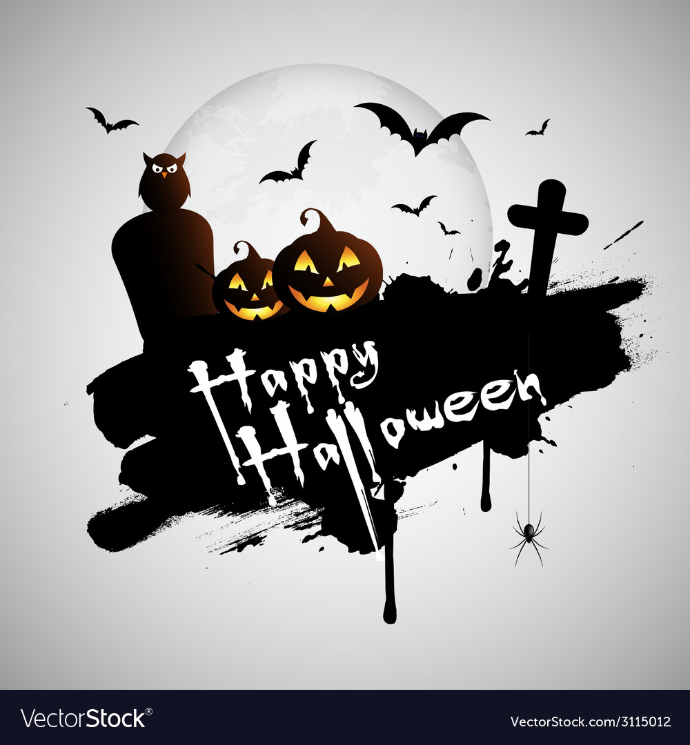 Grunge halloween background vector | Price: 1 Credit (USD $1)