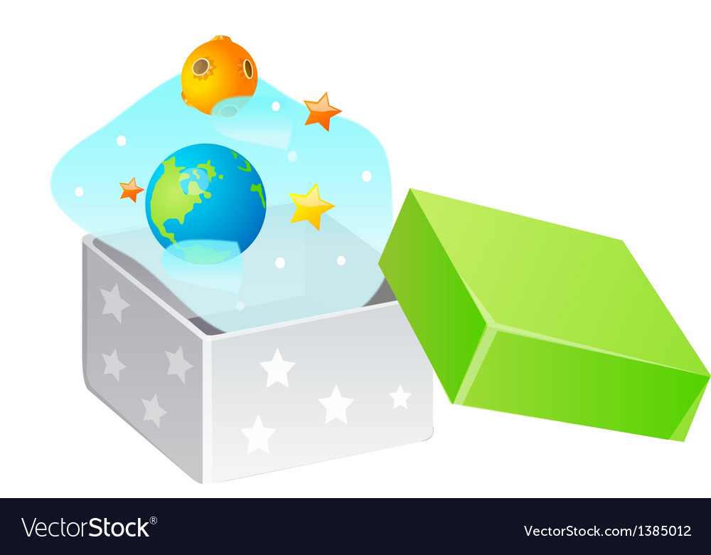 Icon earth and planet in the box vector | Price: 1 Credit (USD $1)