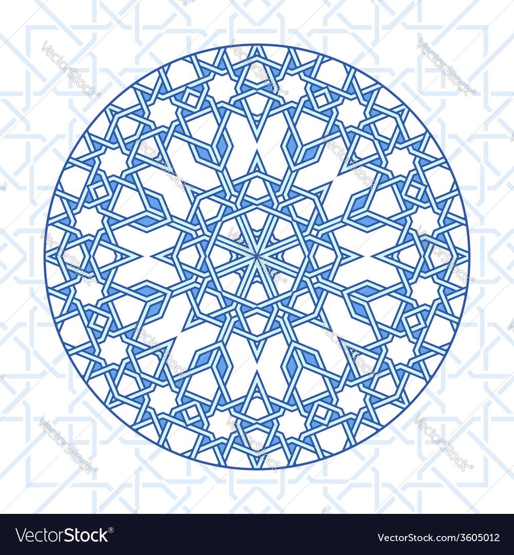 Intricate moorish eastern pattern vector | Price: 1 Credit (USD $1)
