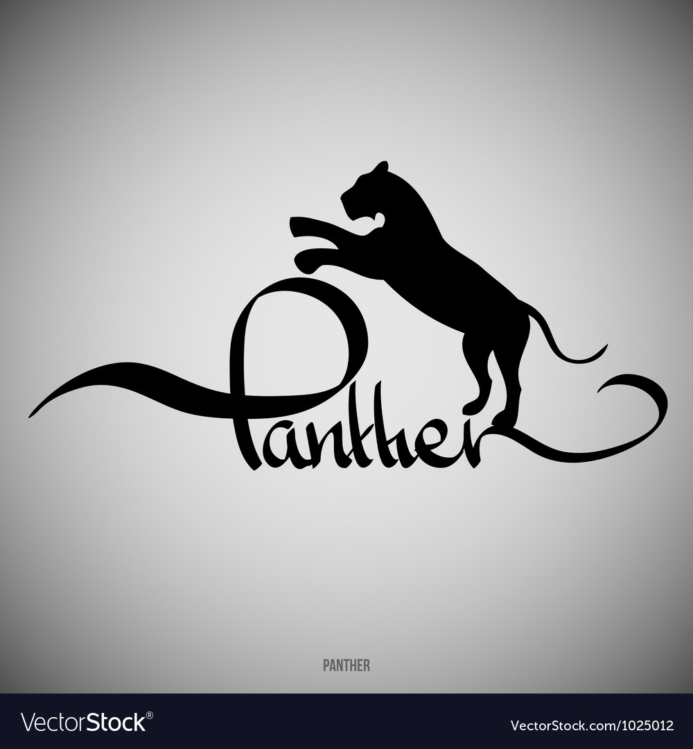Panther calligraphic elements vector | Price: 1 Credit (USD $1)