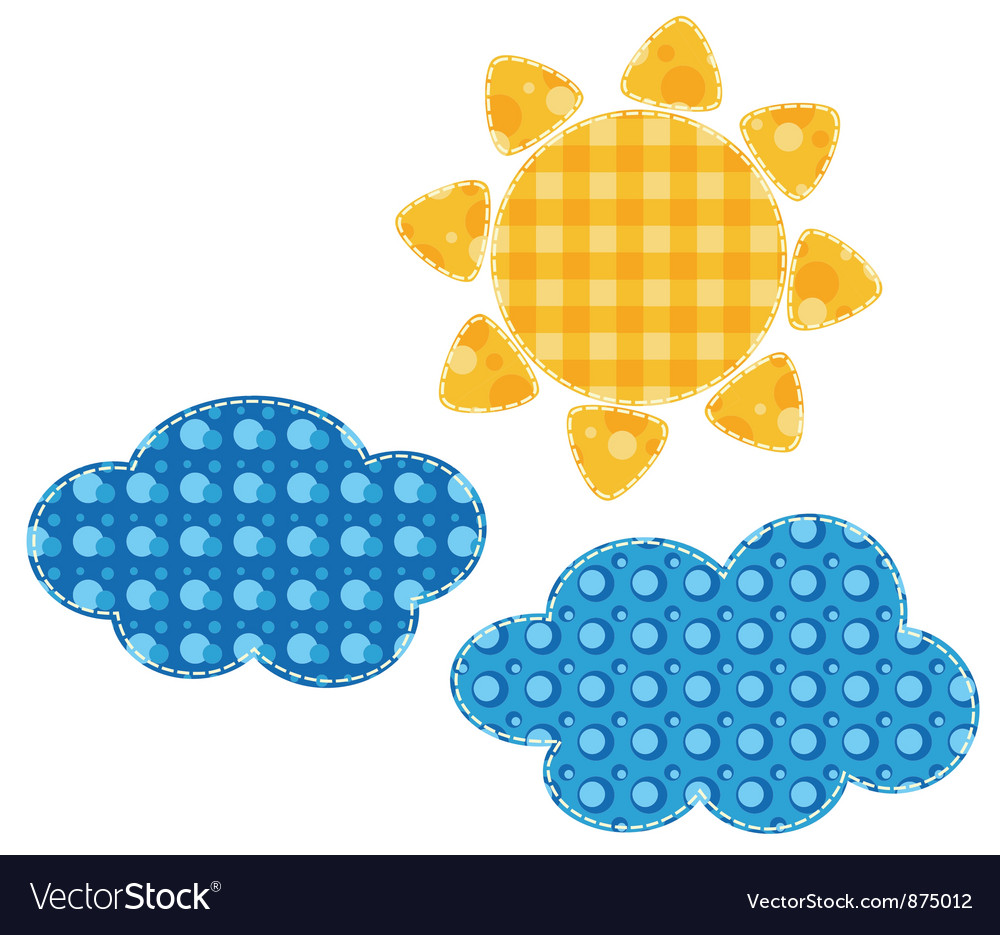 Patchwork sun vector | Price: 1 Credit (USD $1)