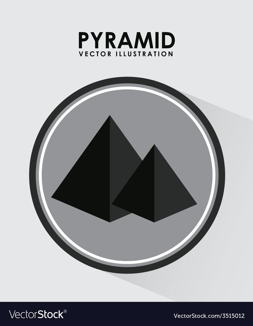 Pyramid icon vector   Price: 1 Credit (USD $1)