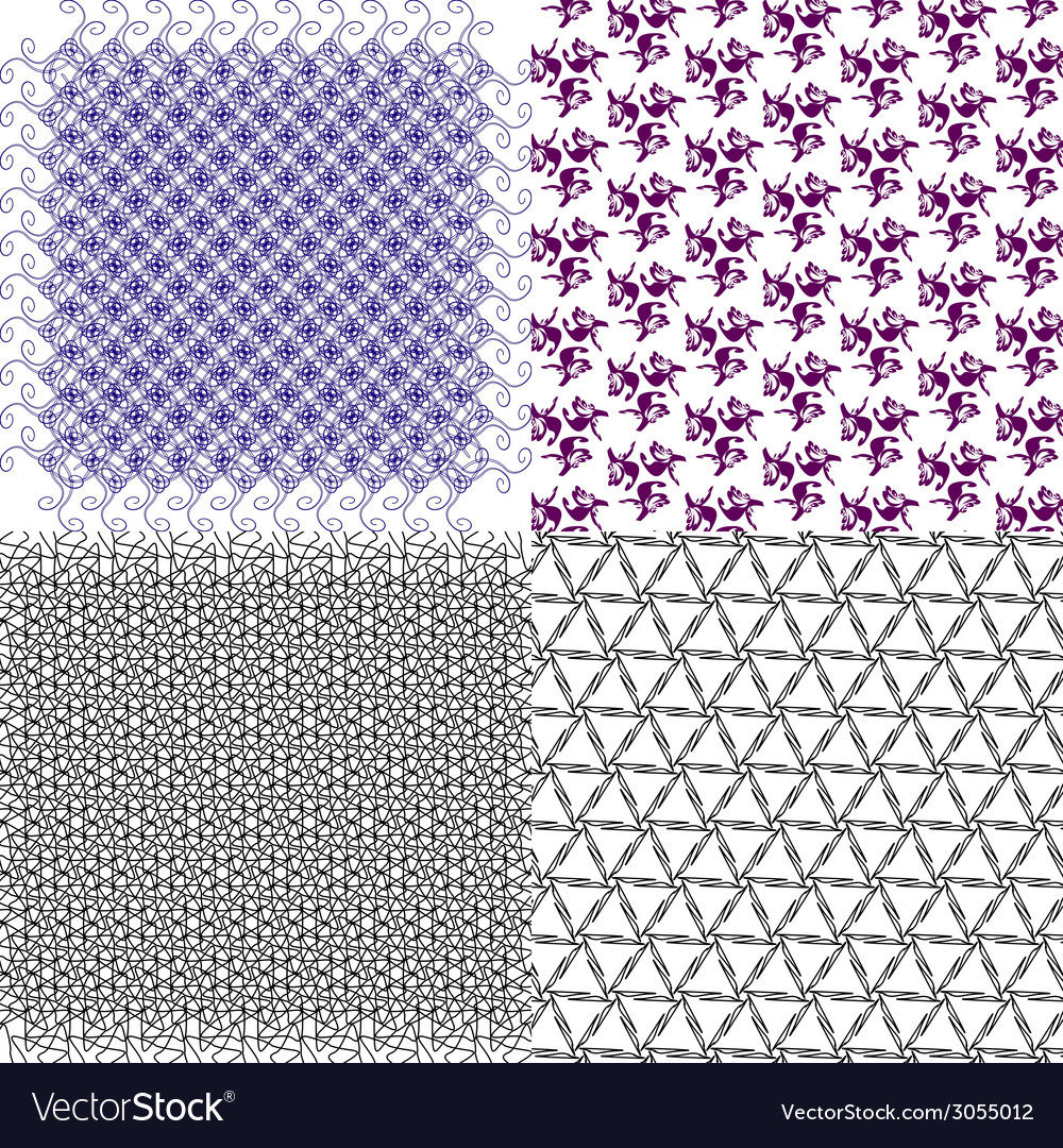 Set of geometric pattern in op art design art vector   Price: 1 Credit (USD $1)
