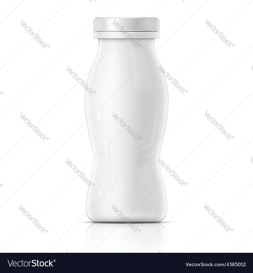 Small white yougurt bottle template vector | Price: 1 Credit (USD $1)
