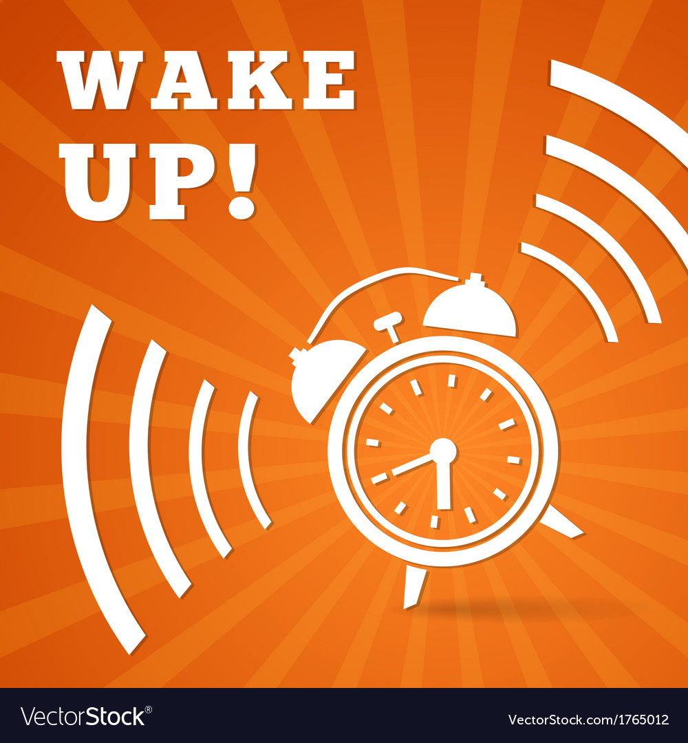 Wake up alarm vector | Price: 1 Credit (USD $1)