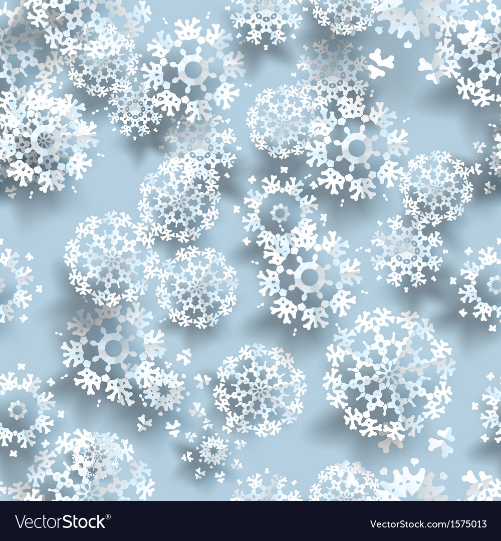 Blue paper christmas snowflakes vector | Price: 1 Credit (USD $1)