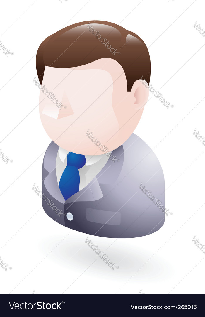 Businessman icon vector | Price: 3 Credit (USD $3)