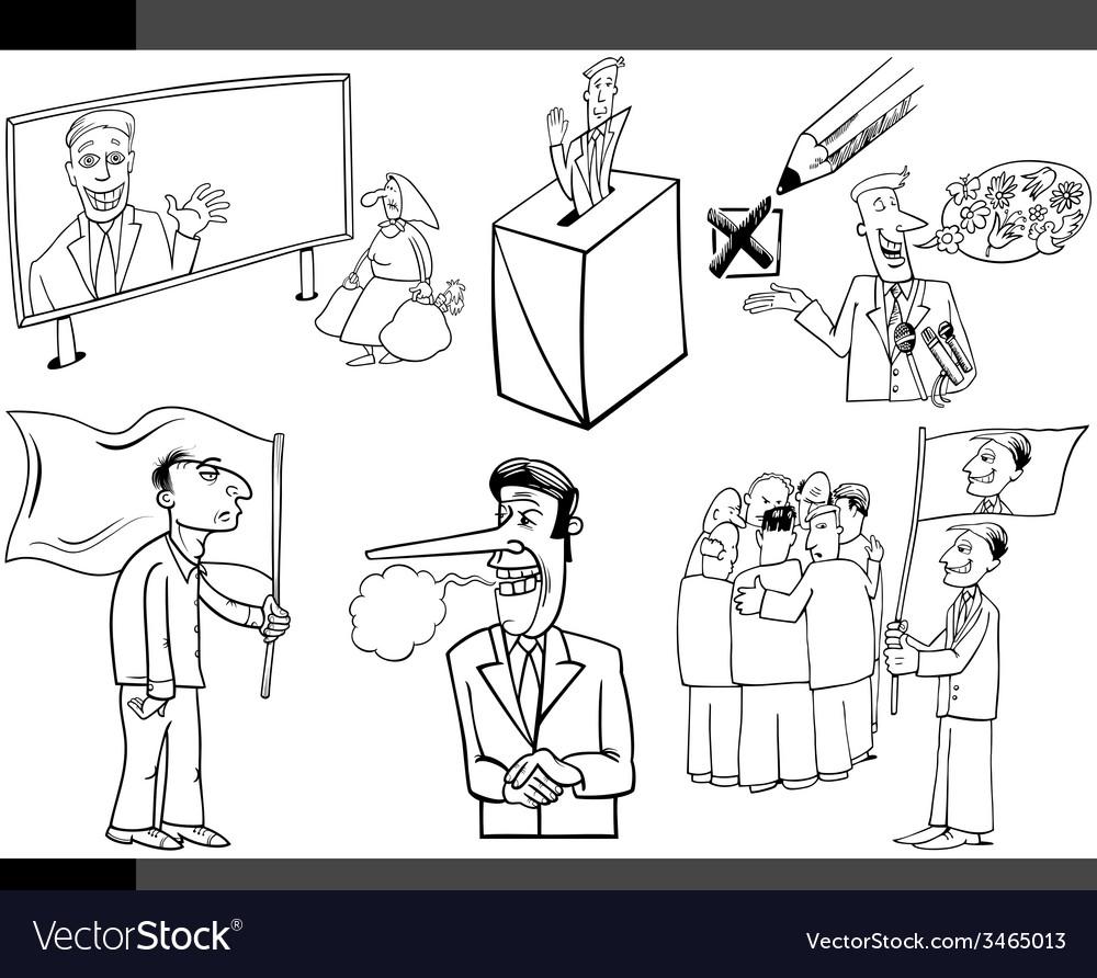 Cartoon politics concepts set vector | Price: 1 Credit (USD $1)