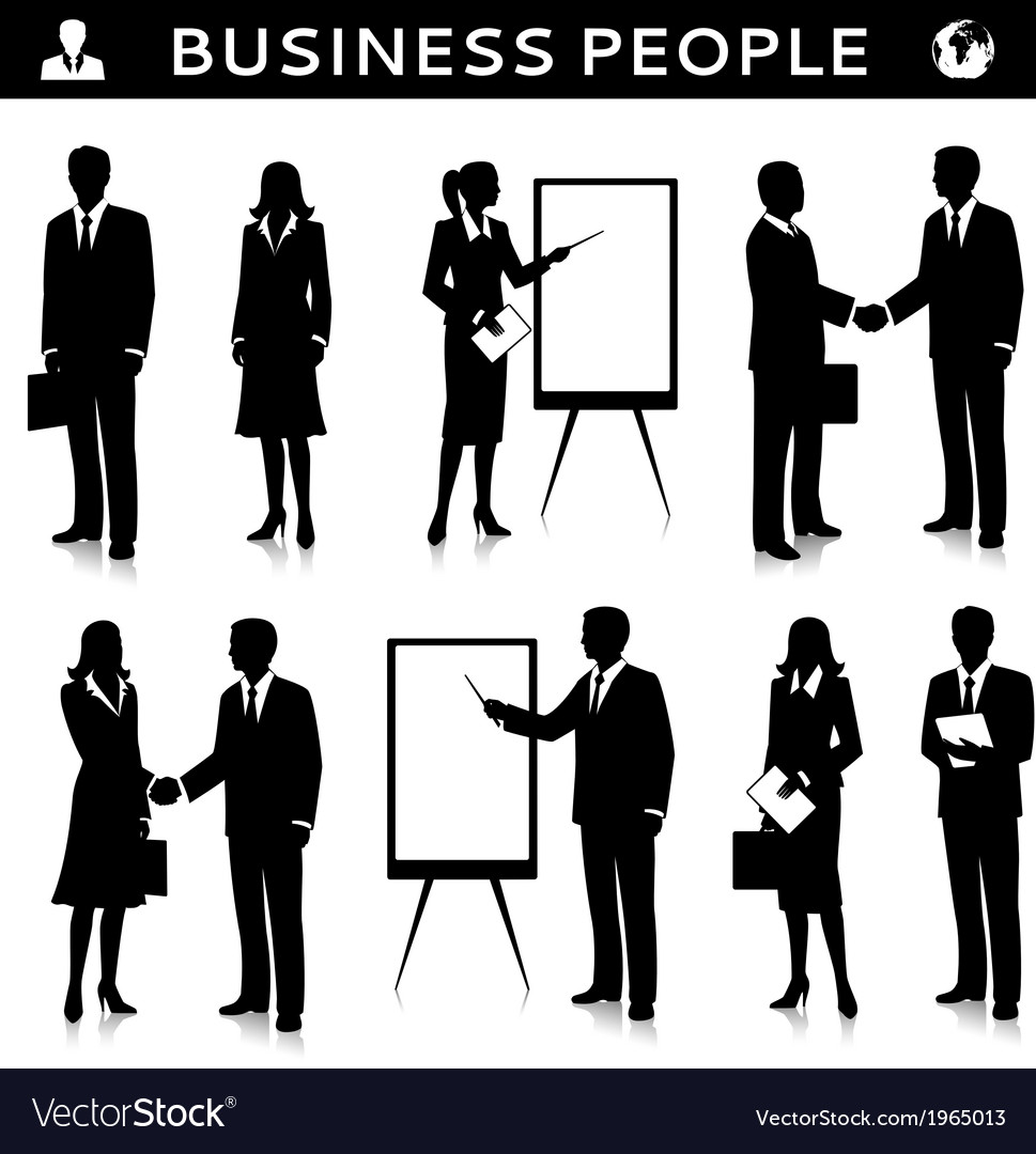 Flipcharts with business people silhouettes vector | Price: 3 Credit (USD $3)