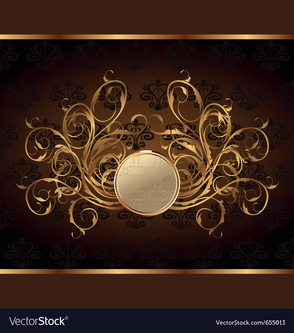 Gold invitation frame vector | Price: 1 Credit (USD $1)