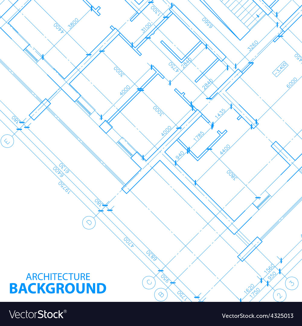 New architecture plan vector | Price: 1 Credit (USD $1)