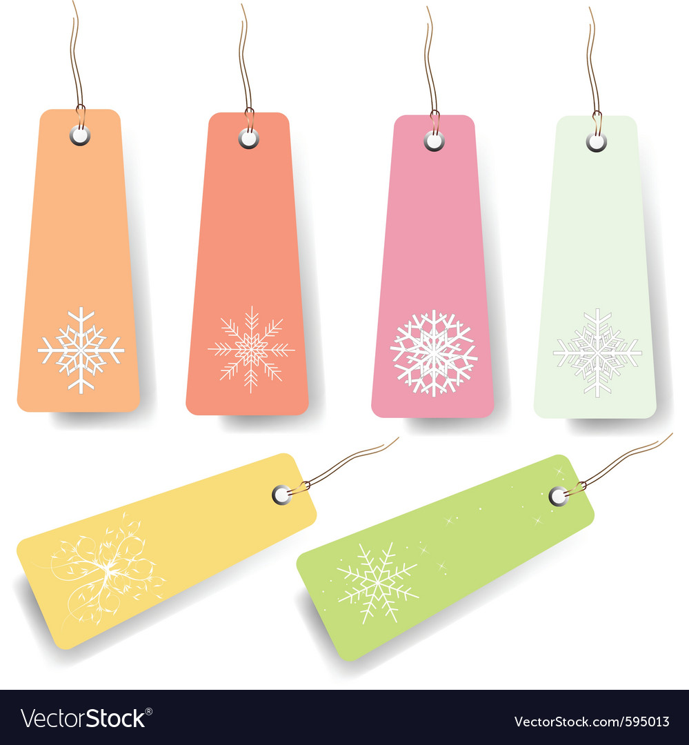 Pastel shopping tags vector | Price: 1 Credit (USD $1)