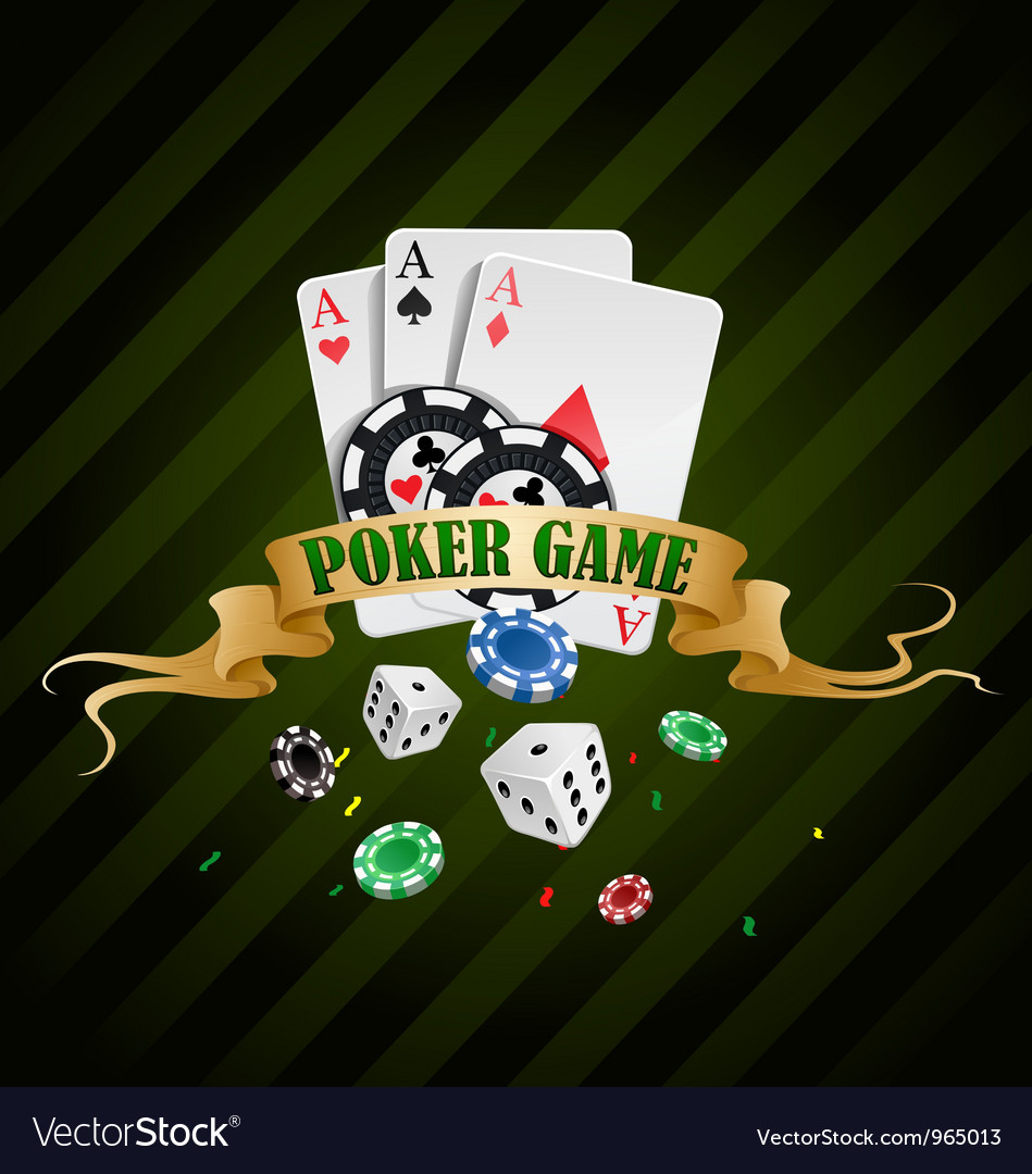 Poker gambling chips poster vector | Price: 3 Credit (USD $3)