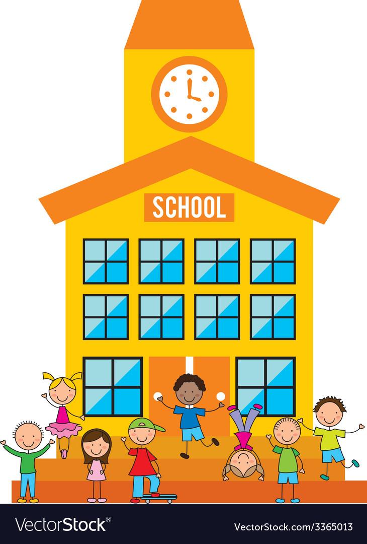 School design vector | Price: 1 Credit (USD $1)