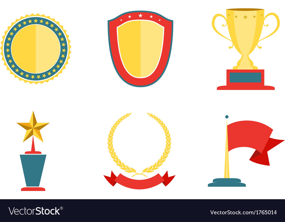 Award badges collection vector | Price: 1 Credit (USD $1)