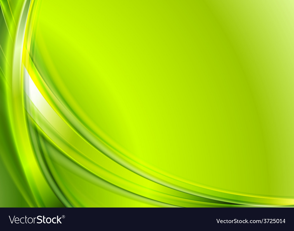 Bright green abstract wavy background vector | Price: 1 Credit (USD $1)