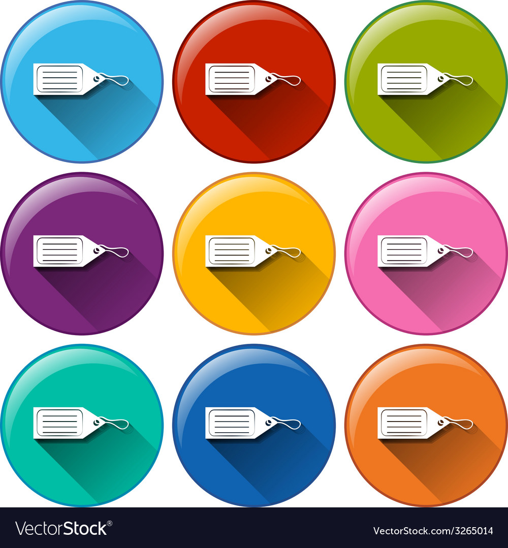 Circle buttons with tags vector | Price: 1 Credit (USD $1)