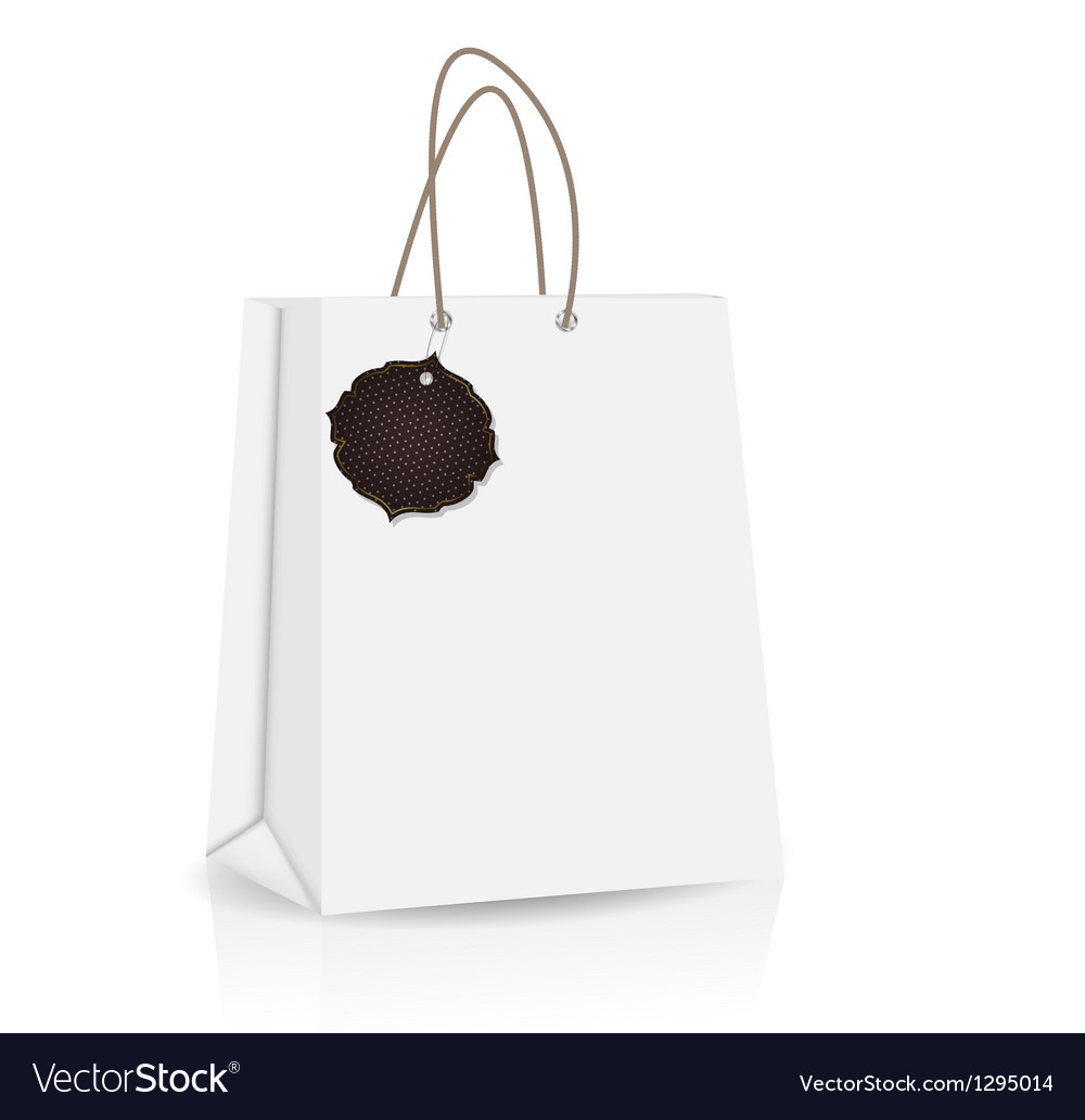 Empty shopping bag with label for advertising and vector | Price: 1 Credit (USD $1)