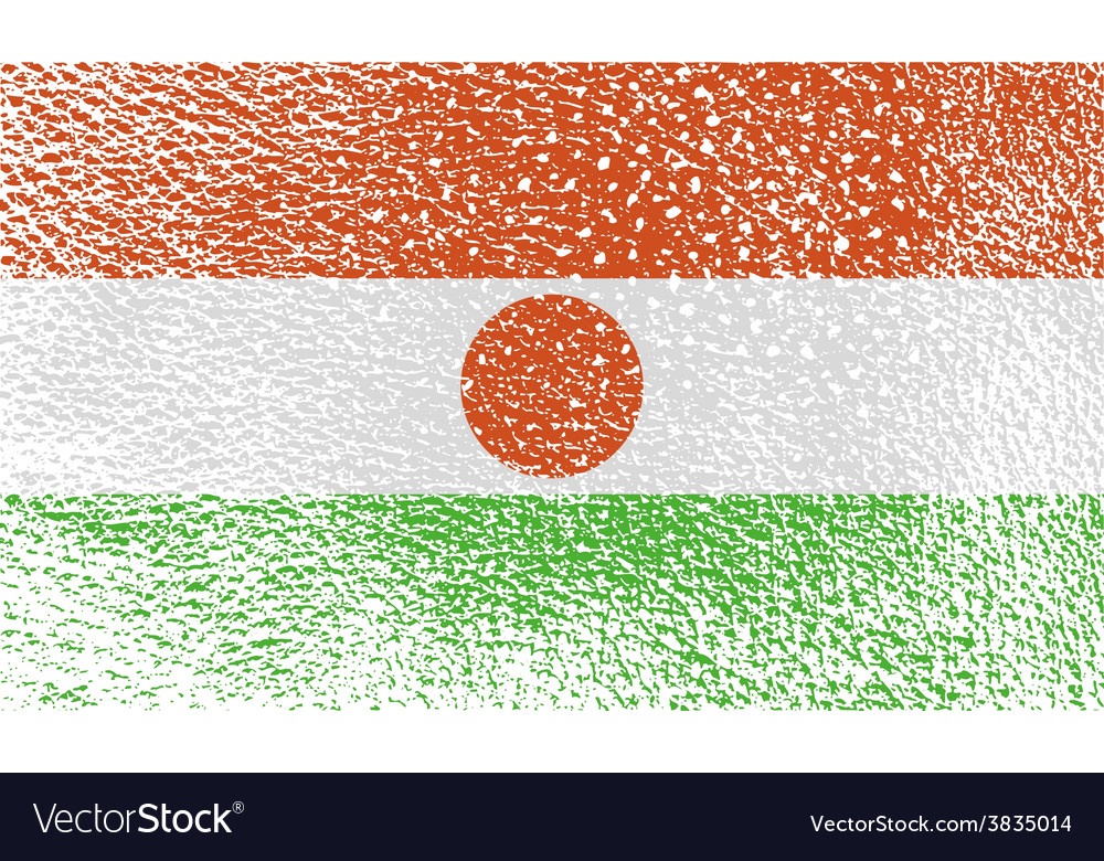 Flag of niger with old texture vector | Price: 1 Credit (USD $1)