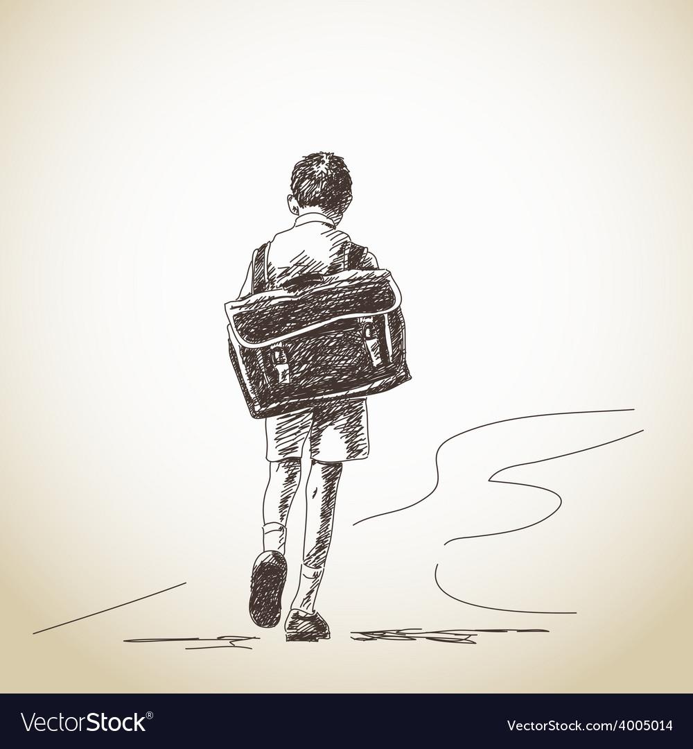 Hand drawn schoolboy vector | Price: 1 Credit (USD $1)