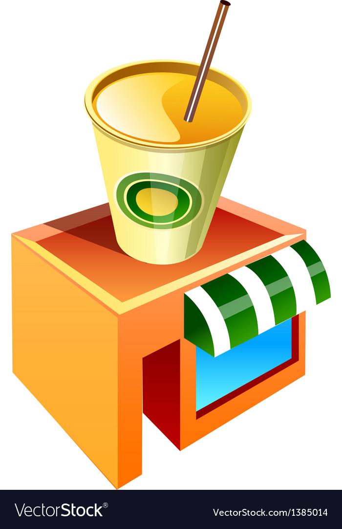 Icon offee shop icon vector