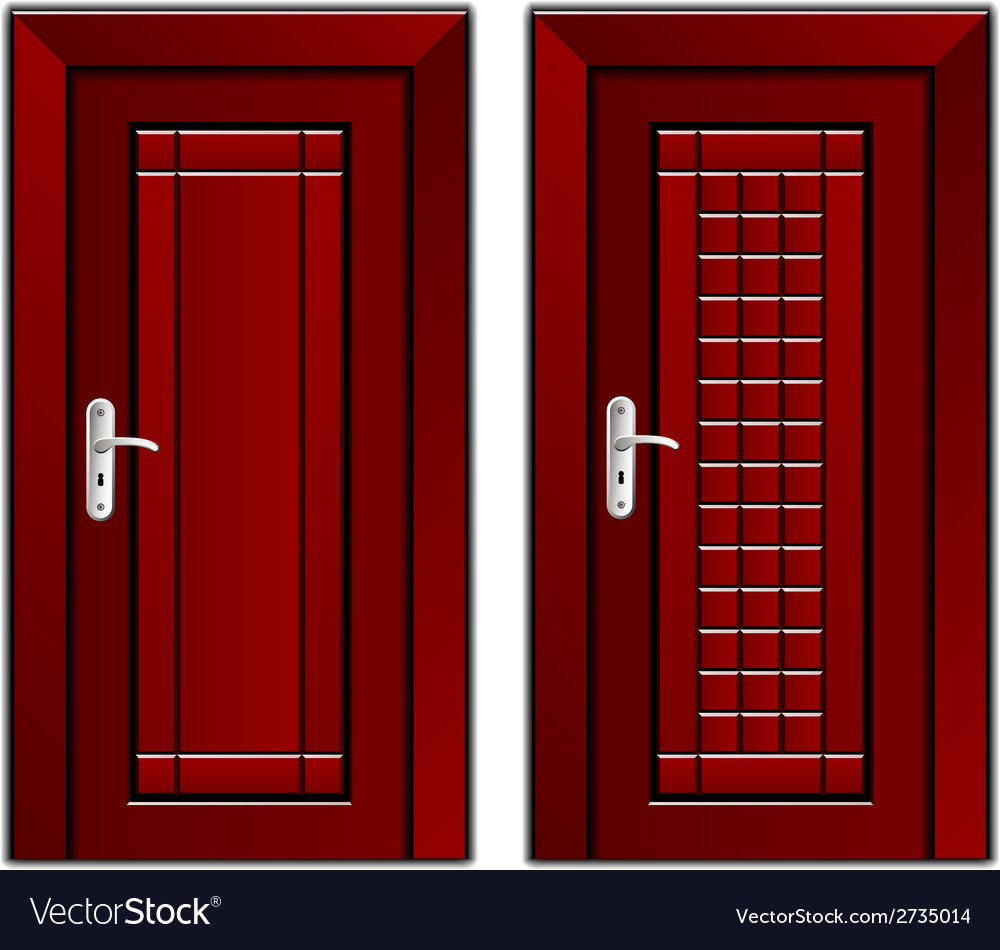 Luxury mahogany wooden door vector | Price: 1 Credit (USD $1)