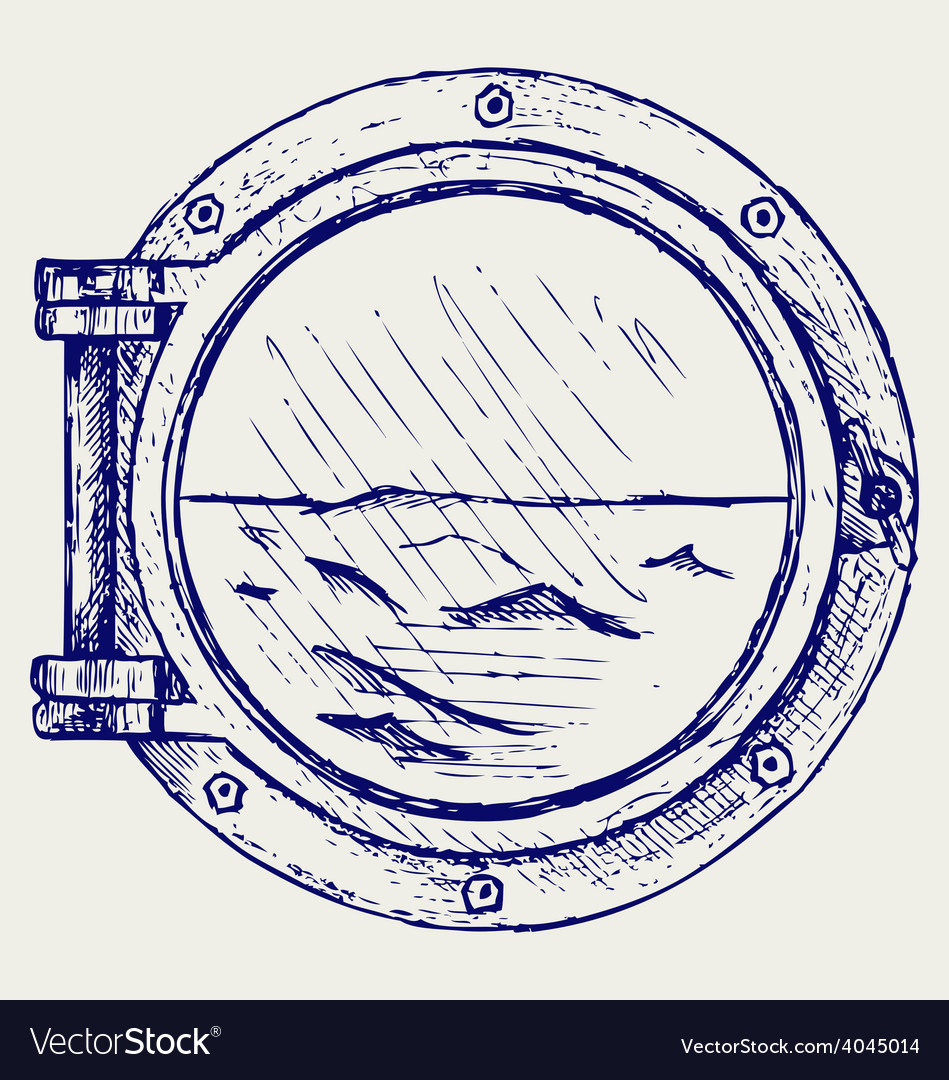 Metallic porthole vector | Price: 1 Credit (USD $1)